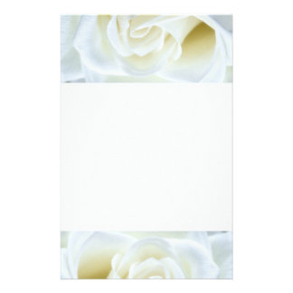 Beautiful White Rose Customised Stationery