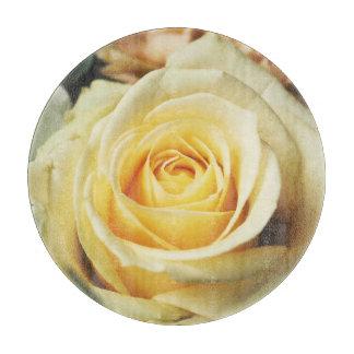 Beautiful White Rose Cutting Board