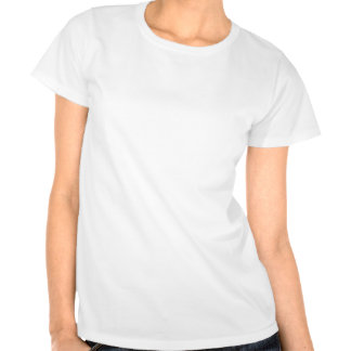 Beautiful White Rose Fitted Tee Shirt
