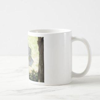 Beautiful white rose flower coffee mug