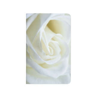 Beautiful White Rose Journals