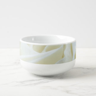 Beautiful White Rose Soup Mug