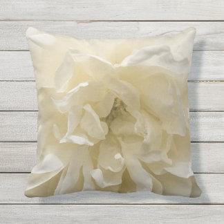 Beautiful White Rose Throw Cushion