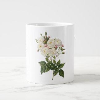 Beautiful White Roses Bouquet Mug Jumbo Mug