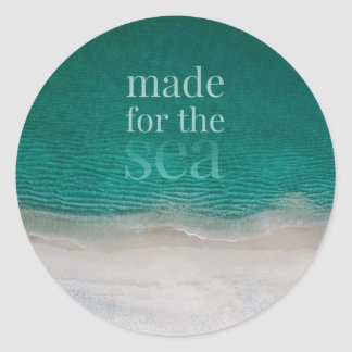 Beautiful White Sandy Beach Classic Round Sticker