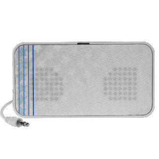 Beautiful white star pattern travelling speakers