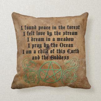 Beautiful Wiccan poem Cushion