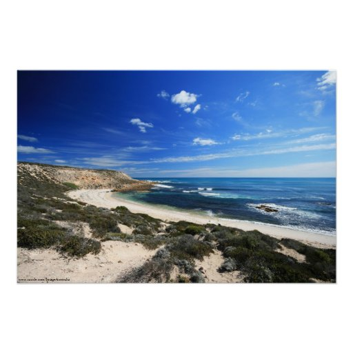 Beautiful Wild Coastline Poster