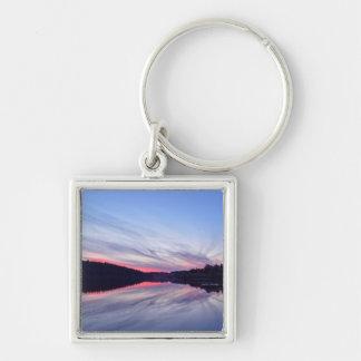 Beautiful Wilderness Sunset over Lake Photo Key Ring