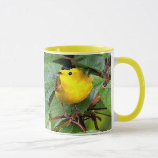 Beautiful Wilson's Warbler in the Cherry Tree Mug