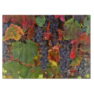 Beautiful Wine Vineyard with Harvest Grapes Cutting Board