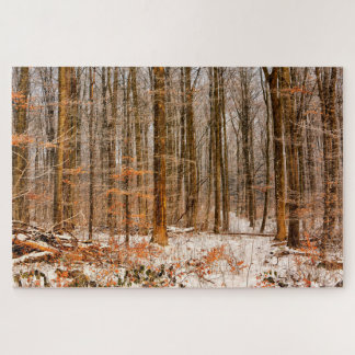 Beautiful Winter Forest with Snow Jigsaw Puzzle