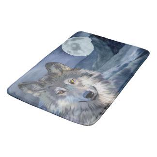 Beautiful Winter Scene Wolf Bath Mat