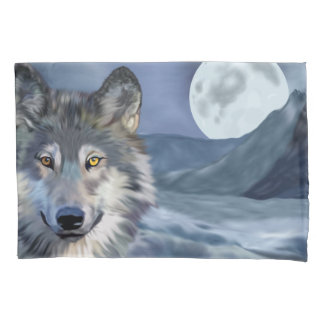 Beautiful Winter Scene Wolf Pillowcase