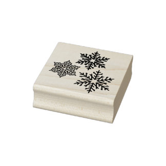 Beautiful Winter Snowflakes Rubber Stamp