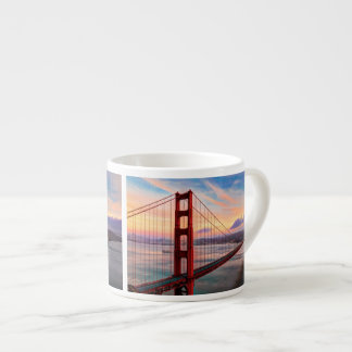 Beautiful winter sunset at Golden Gate Bridge Espresso Cup