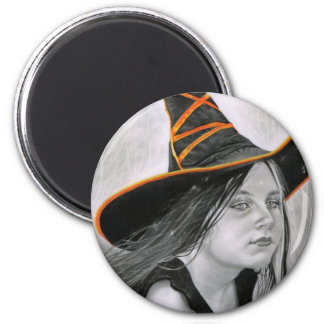 Beautiful Witch Halloween Magnet