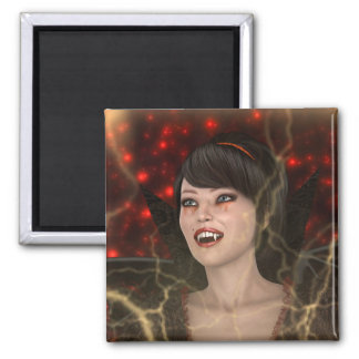 Beautiful Witch Square Magnet