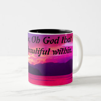 Beautiful within coffee cup