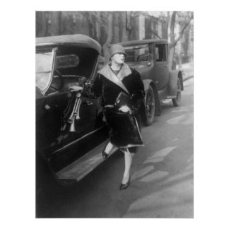 Beautiful woman and cars, 1926 poster