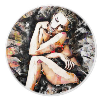 Beautiful Woman Art Knob