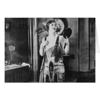 Beautiful Woman Flapper Dress 1920s Card