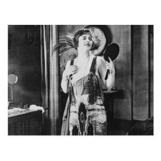 Beautiful Woman Flapper Dress 1920s Postcard