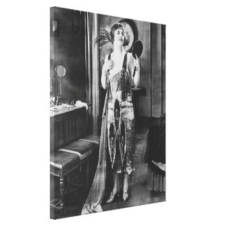 Beautiful Woman Flapper Dress 1920s Style Canvas Print