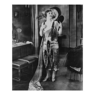 Beautiful Woman Flapper Dress 1920s Style Poster