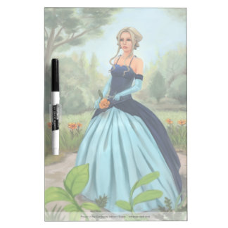 Beautiful Woman In Victorian Dress Illustration Dry-Erase Whiteboard