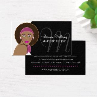 Beautiful Woman Makeup Artist Business Card