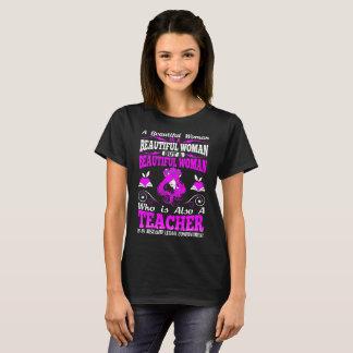 Beautiful Woman Teacher Lethal Combination Tshirt
