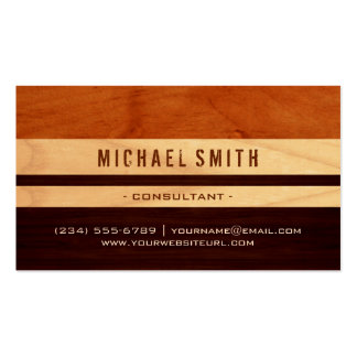 Beautiful Wood Grain Stripes - Professional Unique Pack Of Standard Business Cards