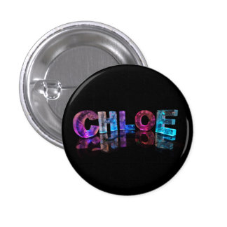 Beautiful Words - Chloe in 3D Lights Pinback Button