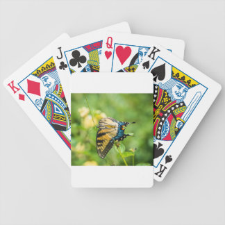 Beautiful Yellow Butterfly Bicycle Playing Cards