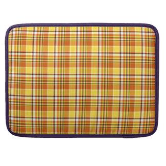 Beautiful yellow checkered Pattern Sleeve For MacBook Pro