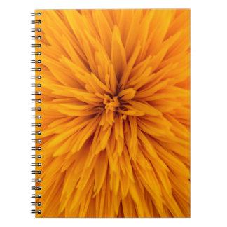 Beautiful Yellow Dahlia Flower Blossom Spiral Notebook