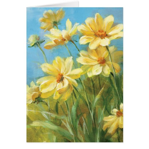 Beautiful Yellow Daisies Greeting Card