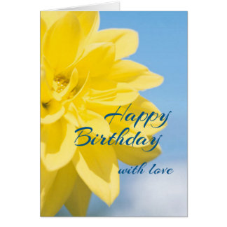 Beautiful Yellow Flower Birthday Card
