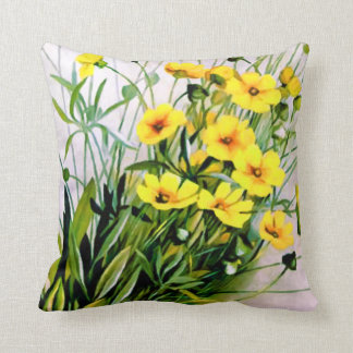 Beautiful Yellow Flowers Cushion
