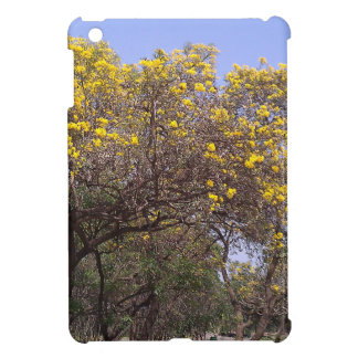 Beautiful yellow flowers in a garden case for the iPad mini