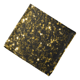 Beautiful Yellow Gold sparkles Bandana