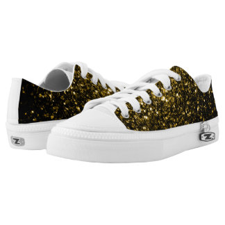 Beautiful Yellow Gold sparkles Low Tops