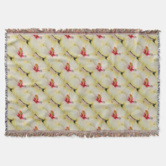Beautiful Yellow Hibiscus Flower Throw Blanket