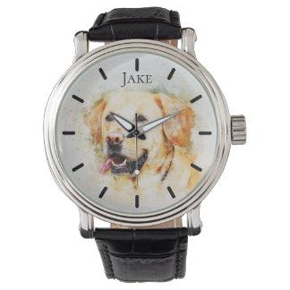 Beautiful Yellow Labrador Custom Personalized Watch