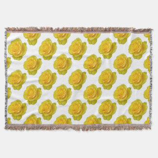Beautiful Yellow Rose Closeup Isolated Throw Blanket