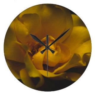 Beautiful yellow rose large clock