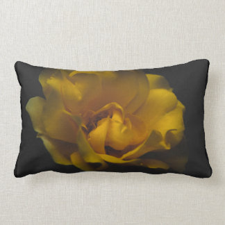 Beautiful yellow rose lumbar cushion