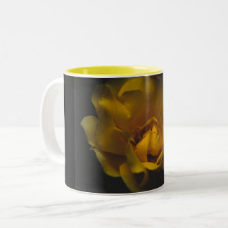 Beautiful yellow rose Two-Tone coffee mug