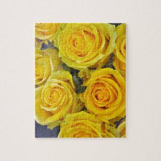 Beautiful yellow roses jigsaw puzzle